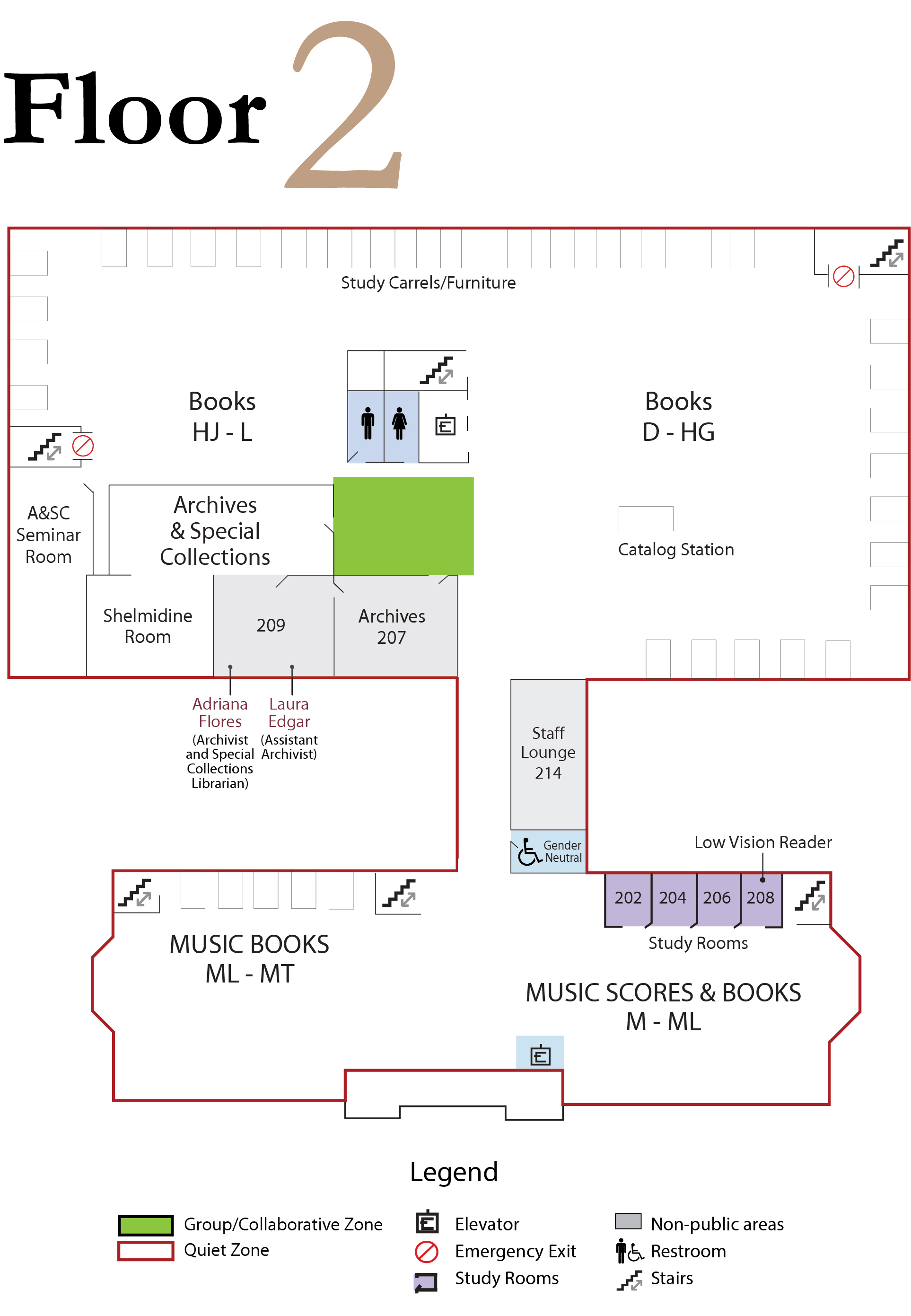 Library Floor 2 Map