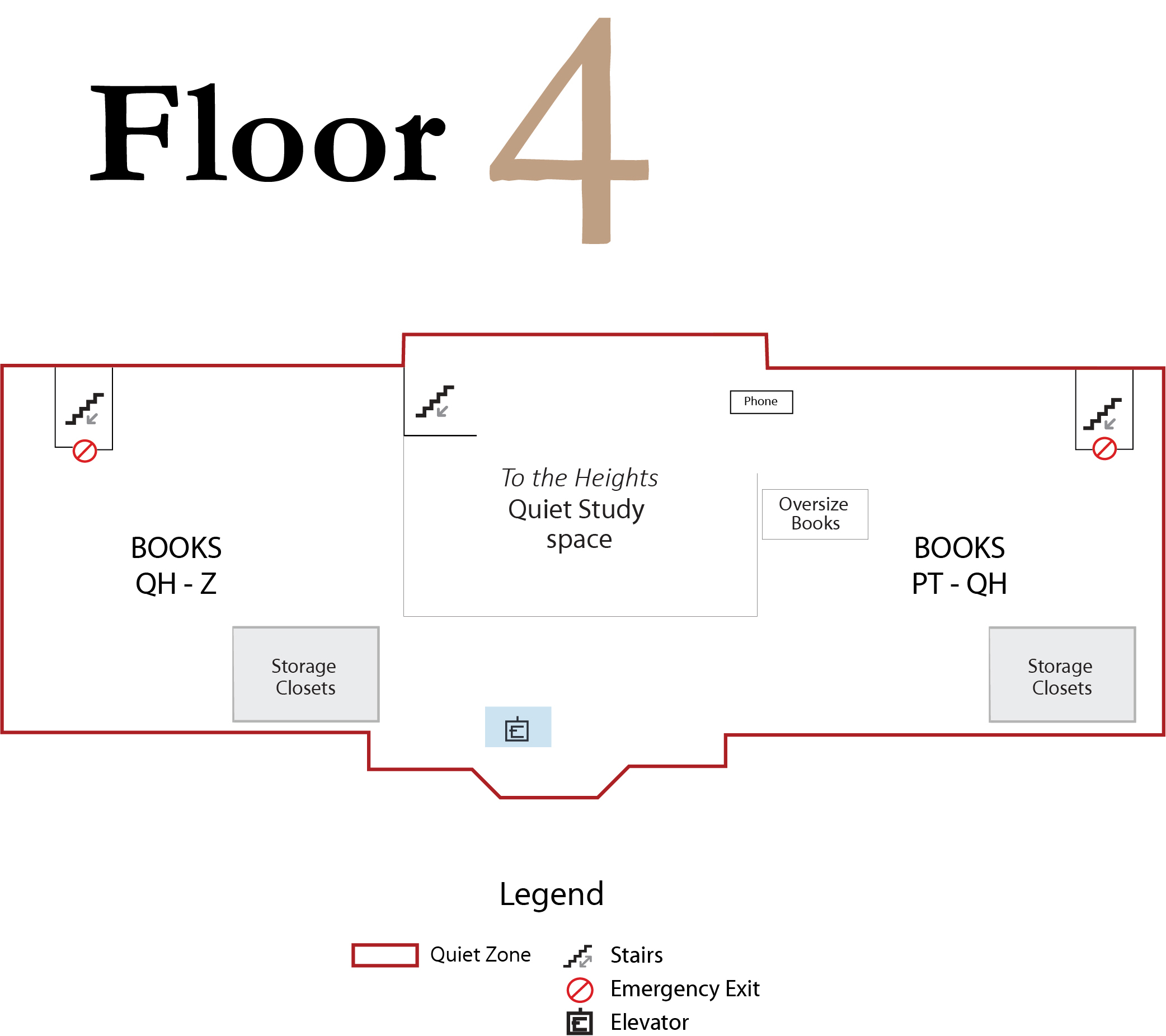 Library Map Floor 4