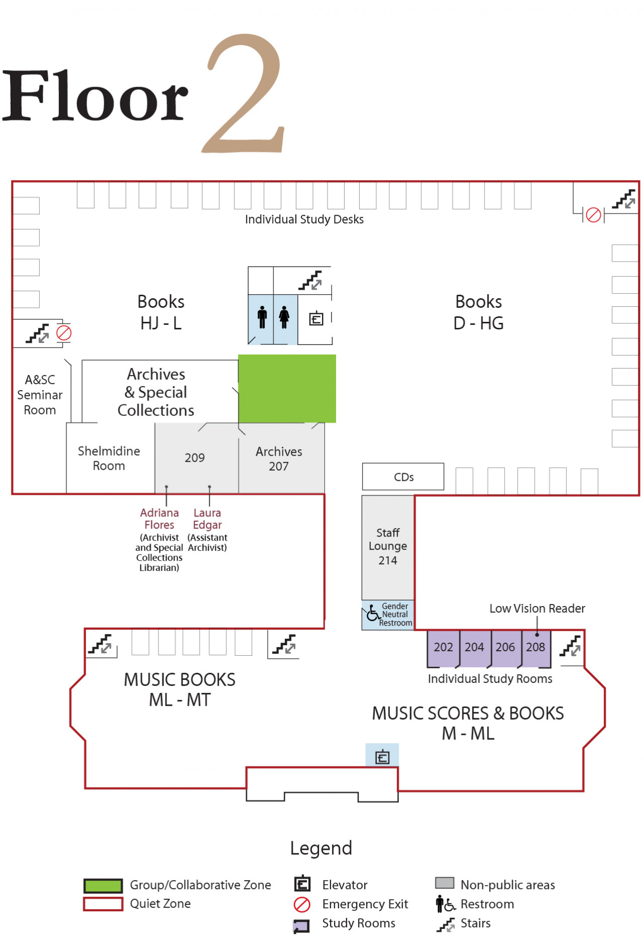 Library Map Floor 2